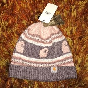 Carhartt knitted beanie pink/taupe
